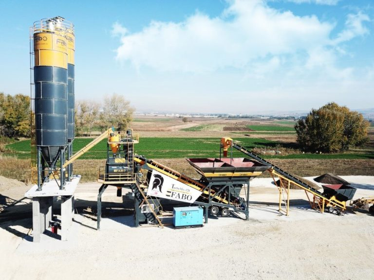 Mobile Concrete Batching plant Turbomix-120-3