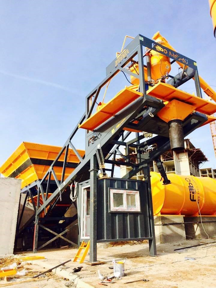 mobile concrete batching plant completed