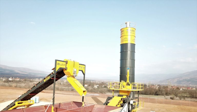 portable concrete batching plant bunker detail